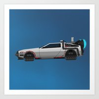 Back to the Future DeLorean 2 Art Print