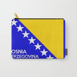 Bosnia and Herzegovina country flag name text Carry-All Pouch