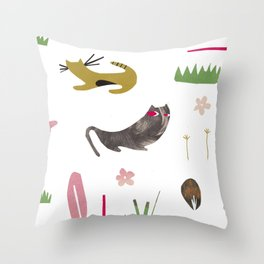 kittycats Throw Pillow