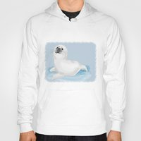 seal Hoodies featuring Cool seal by Michelle Behar