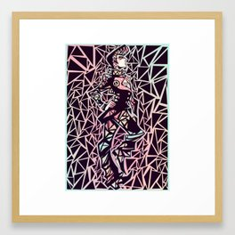 four of diamonds Framed Art Print