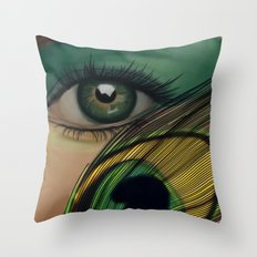 Through The Eye Of A Peacock Throw Pillow