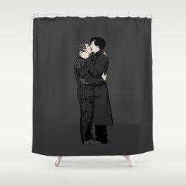 Kissing Sherlock and John Shower Curtain