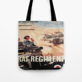Vintage poster - Royal Air Force Tote Bag