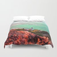lighthouse Duvet Covers featuring Lighthouse by Kakel-photography