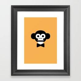 smart monkey Framed Art Print