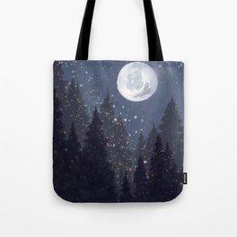 Full Moon Landscape Tote Bag