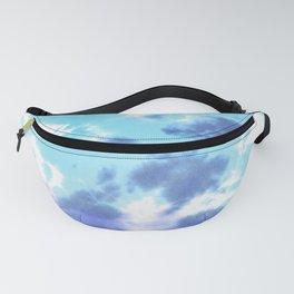 Pastel Ocean Blues Zen Tie Dye Fanny Pack