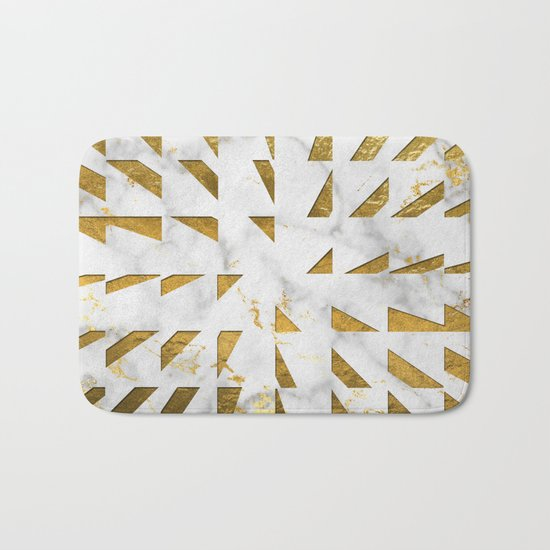 Marble and Gold Pattern #4 Bath Mat