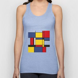 Downtown, Tribute to Mondrian Unisex Tank Top