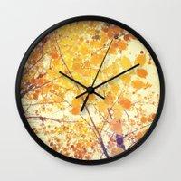be happy Wall Clocks featuring Happy by Olivia Joy StClaire