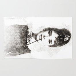 Audrey Hepburn portrait 01 Rug