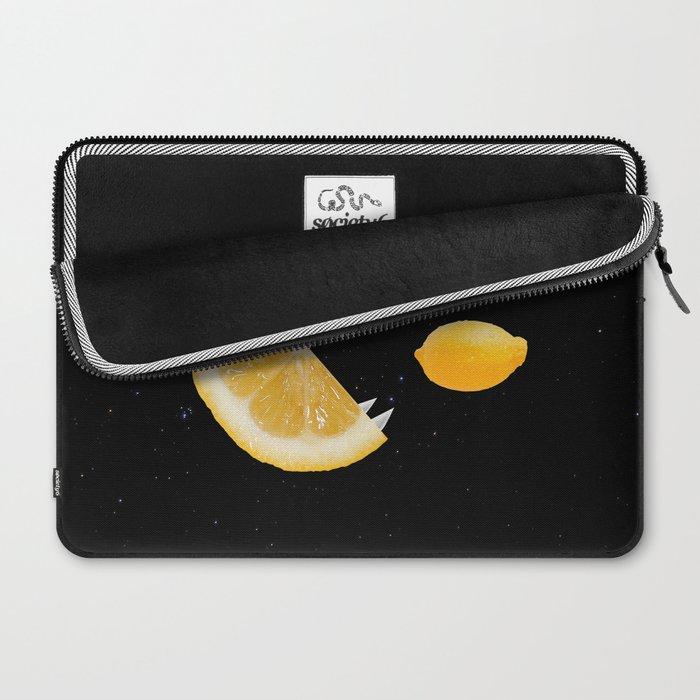 Funny Lemon Eats lemon Laptop Sleeve