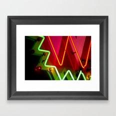 Neon sign closeup Framed Art Print