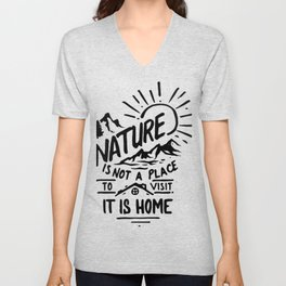 Nature is home Unisex V-Neck