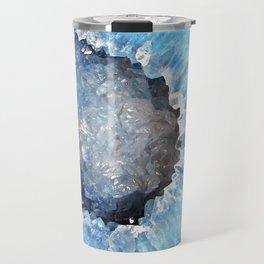 Blue Crystal Geode Travel Mug