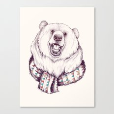 Bear & Scarf Canvas Print