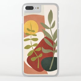 Two Abstract Branches Clear iPhone Case