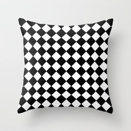 Black Checkerboard - Baby Stimulation Pattern Throw Pillow