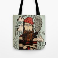 men Tote Bags featuring SOME MEN ARE SAILORS by Matthew Taylor Wilson