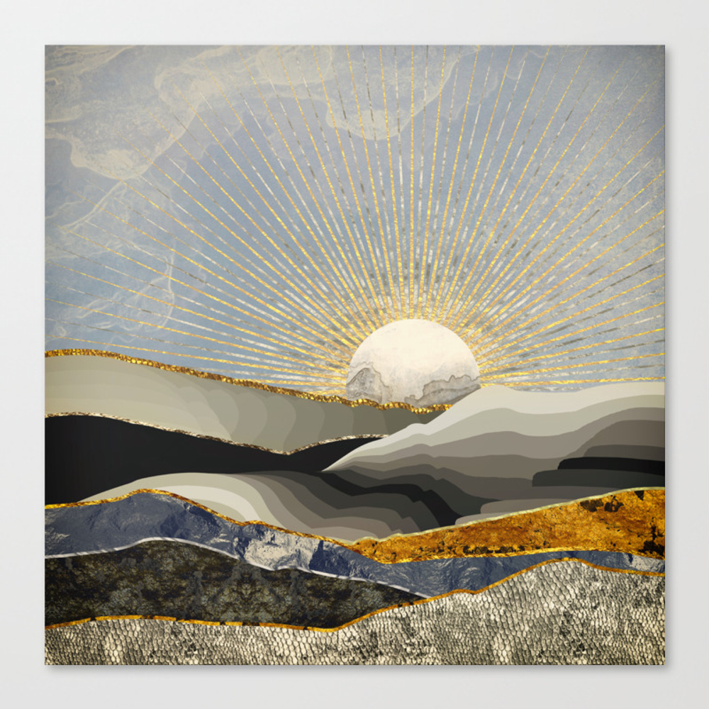 Morning Sun Canvas Print by Spacefrogdesigns