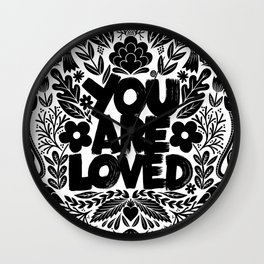 you are loved - garden Wall Clock