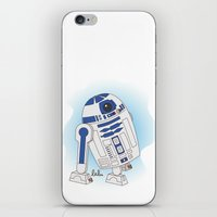 r2d2 iPhone & iPod Skins featuring R2D2 by Lalu