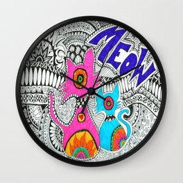 Meow-tangle Wall Clock