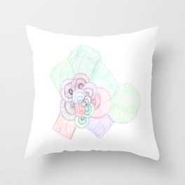 Color cloud Throw Pillow