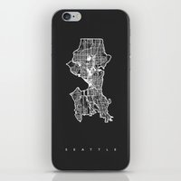 seattle iPhone & iPod Skins featuring SEATTLE  by Nicksman