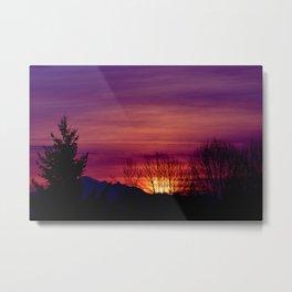 Shadows in the Purple Sky Metal Print