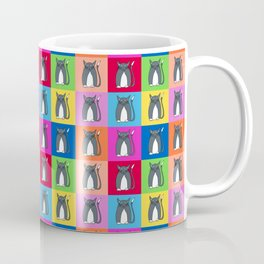 Pussy Cat illustration pattern Coffee Mug