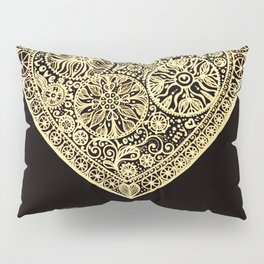 golden heart I love you Pillow Sham