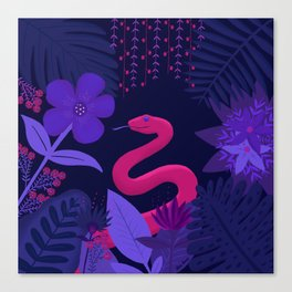 Snake in the Jungle Canvas Print