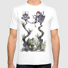 Tree Fun! Mens Fitted Tee White MEDIUM