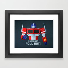 Autobots, Roll out! (Optimus Prime) Framed Art Print