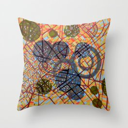 bombing Milan Throw Pillow