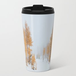 Vibrant Larch Trees Travel Mug