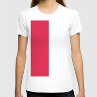 poland T-shirts featuring Flag of Poland by Neville Hawkins