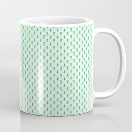 Badger Forest Friends All Over Repeat Pattern on Mint Green Coffee Mug