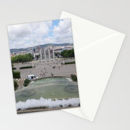 Barcelona - Spain view Stationery Cards