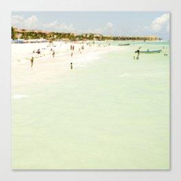 Seaside Swim Canvas Print