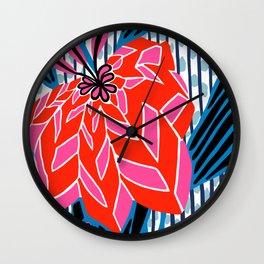 BAYAMO: OLENCIA BRIGHTS, Deco Tropical Wall Clock