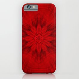 Motion through the red kaleidoscopes iPhone Case