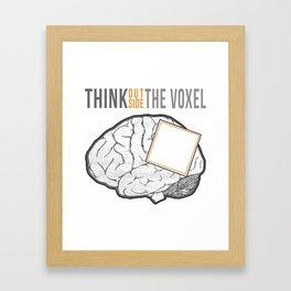 Think Outside the Voxel Framed Art Print