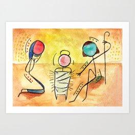 #cagsticks Nativity scene Art Print