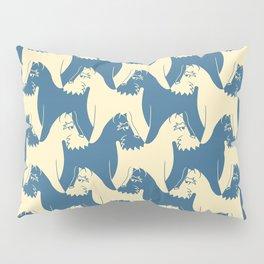Dog Pattern | Schnauzer | M. C. Escher Inspired Artwork by Tessellation Art Pillow Sham