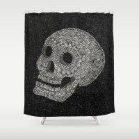 carpe Shower Curtains featuring Carpe Noctem  by ArtLovePassion