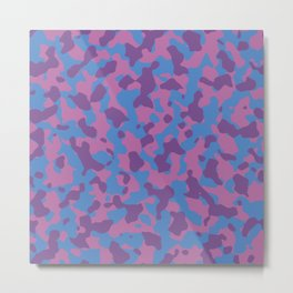Girly Girl Camouflage Metal Print
