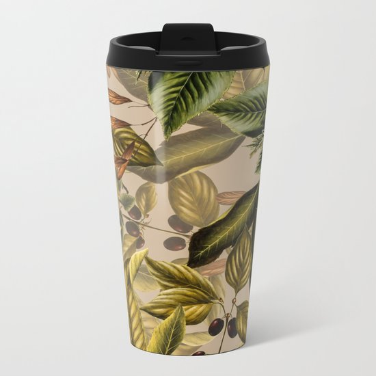 TROPICAL PATTERN-14 Metal Travel Mug